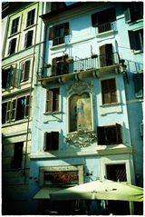 Häuser an der Piazza della Rotonda