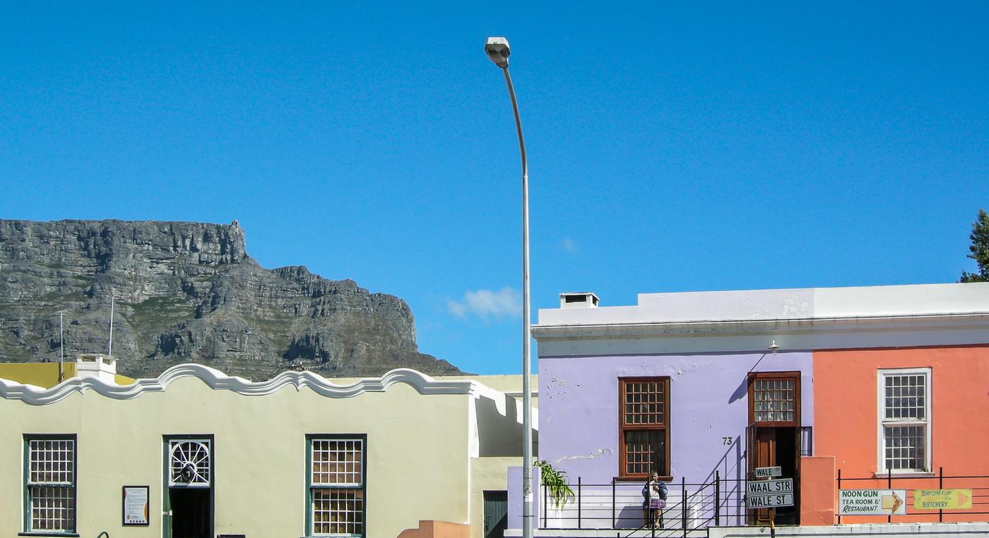 Häuser im Stadtteil Bo-Kaap, Kapstadt Südafrika