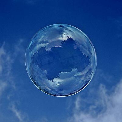 Häuser in der Blase