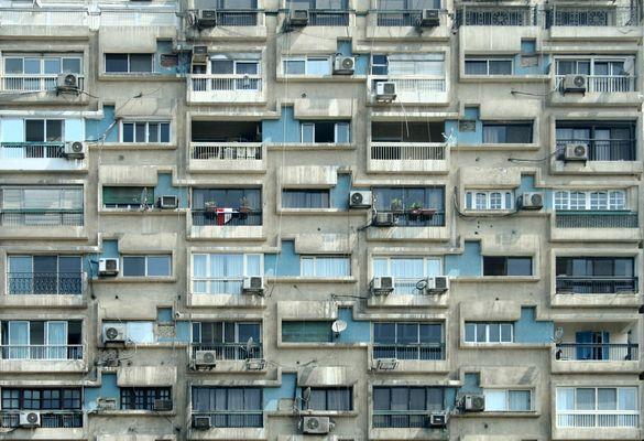 Häuserfassade in Cairo