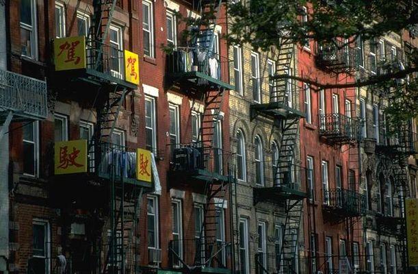 Häuserfront in Greenwich, New York City