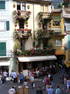 Häuserfront in Malcesine/Gardasee