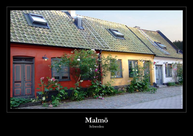 Häuserreihe in Malmö