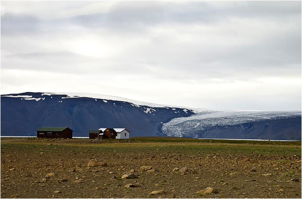Häusle am Gletscher Langjökull