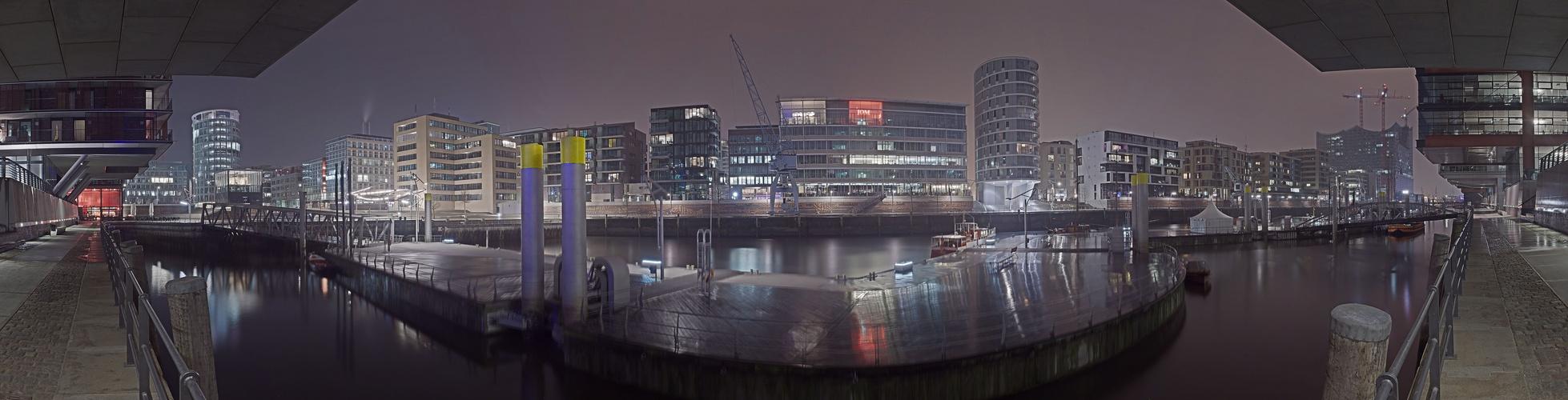Hafen City im Regen