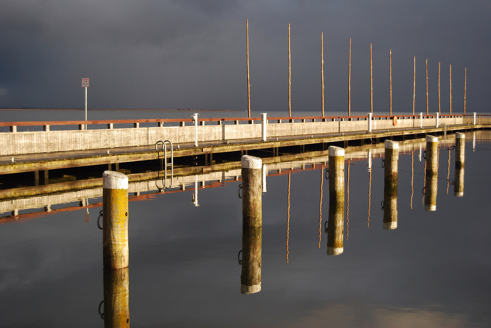 Hafen Dierhagen - Spiegelung