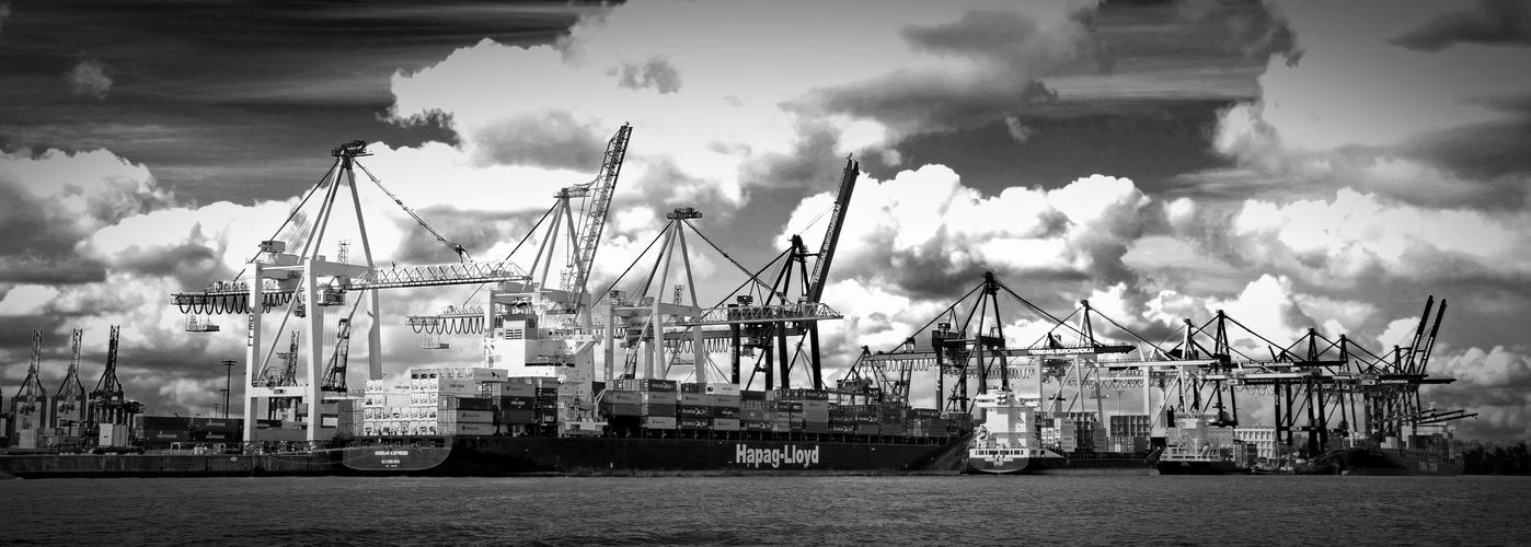 Hafen Hamburg mit der Hapag Lloyd