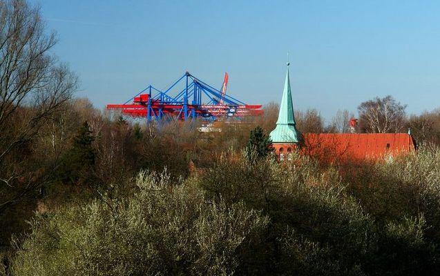 Hafen-Hamburg-Moorburg-Kirche