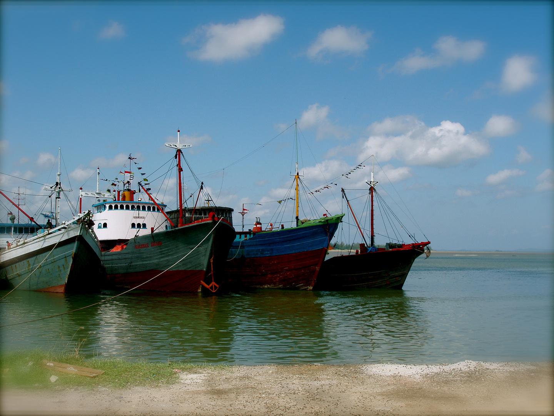 Hafen in Belitung,Indonesien