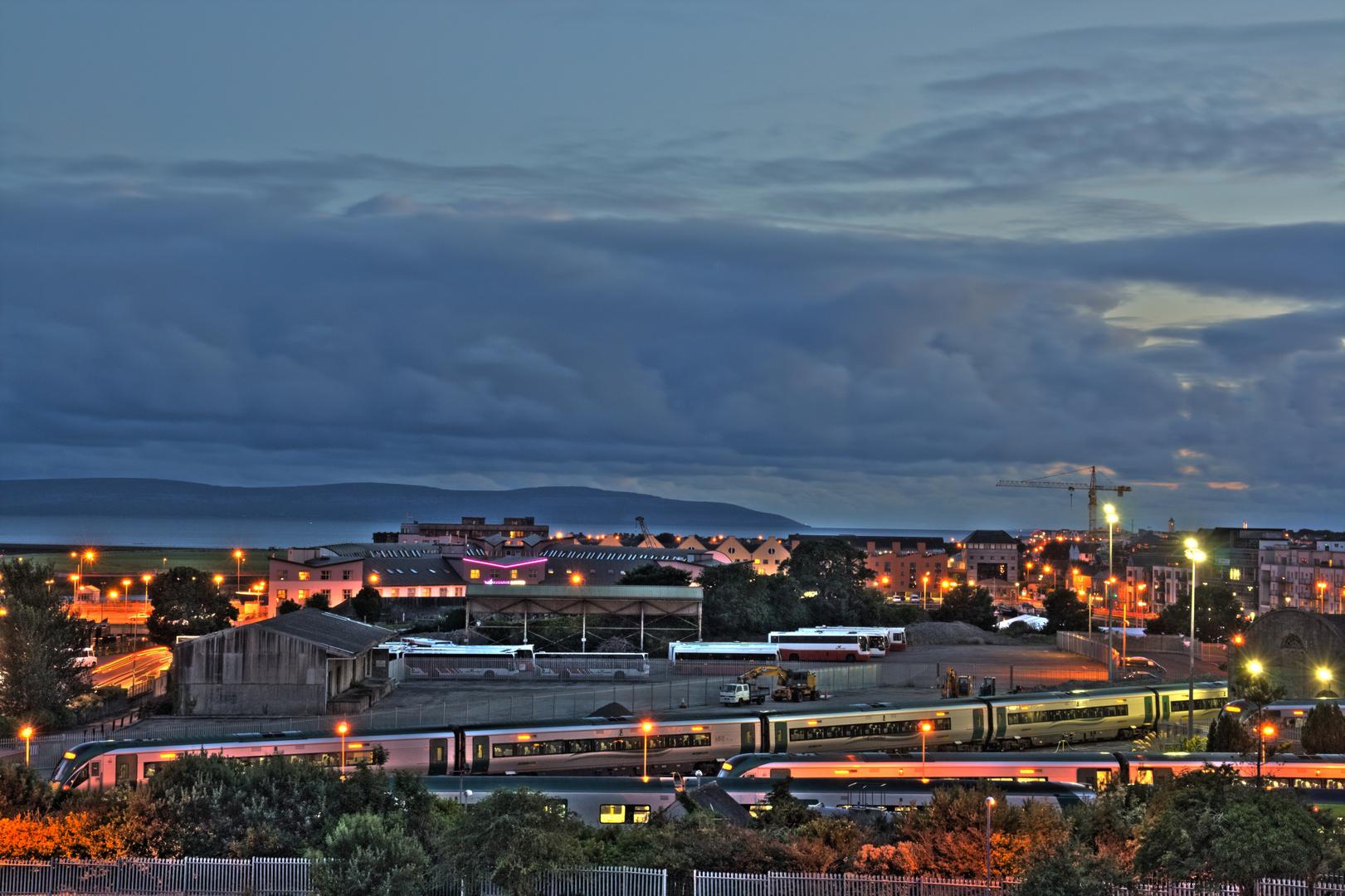 Hafen in Galway vom Balkon aus dem Hotel