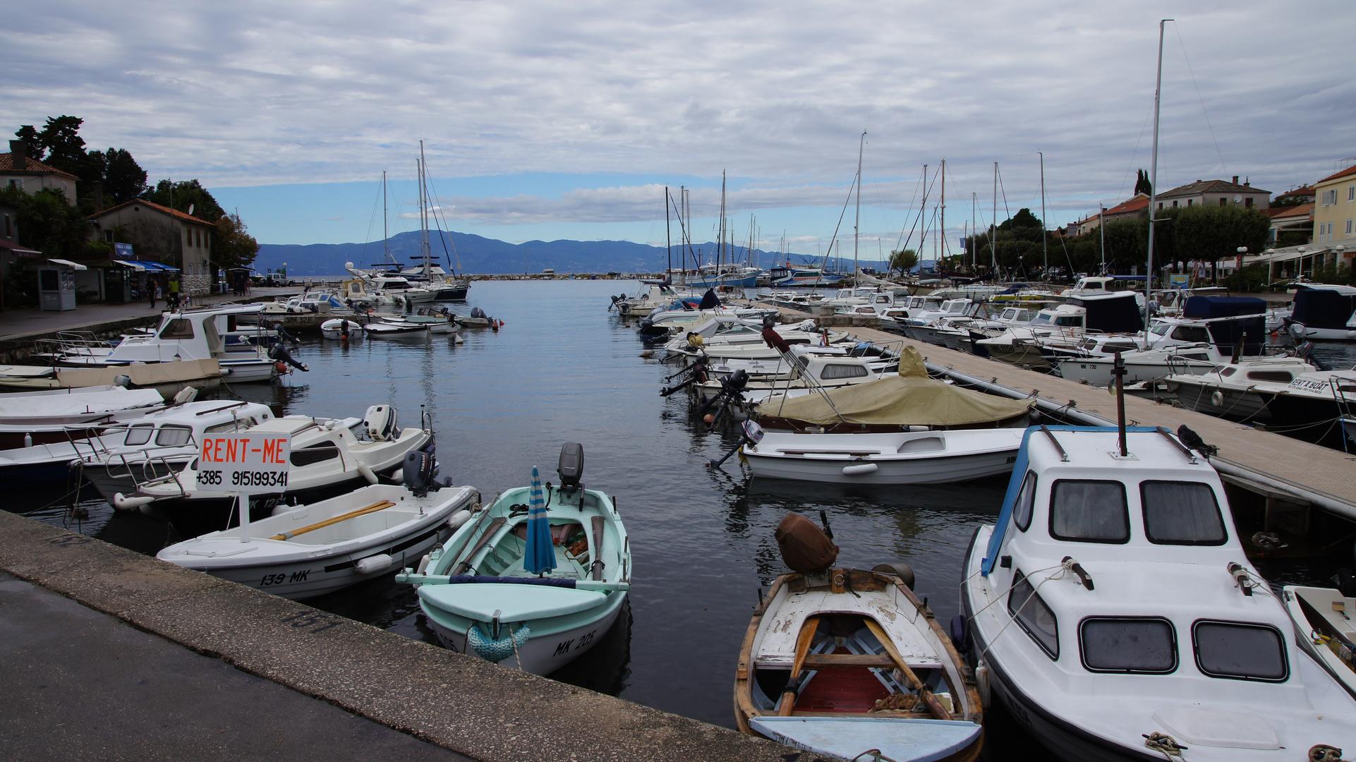 Hafen in Malinska (Insel Krk)