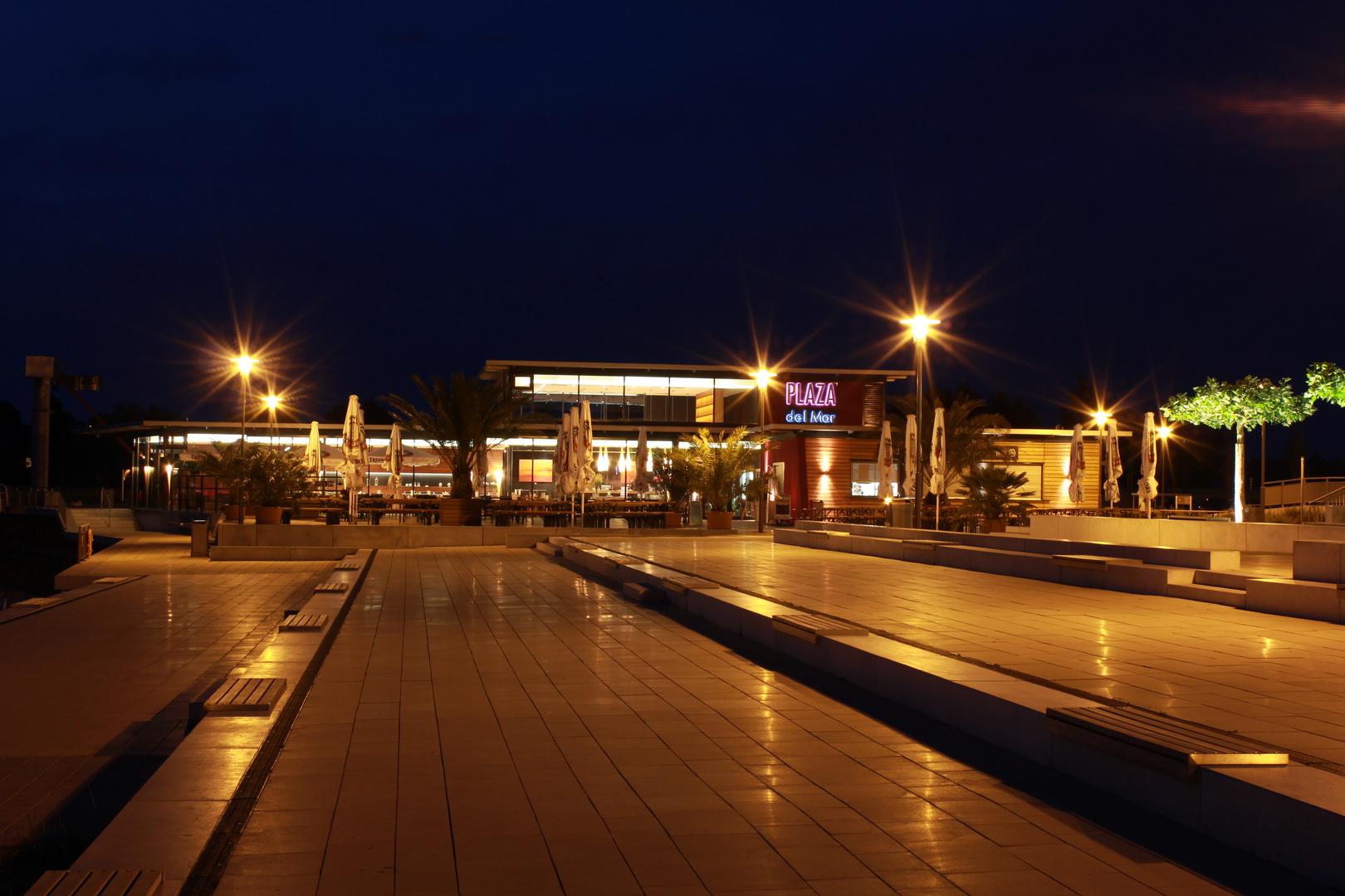 Hafen in Xanten bei Nacht