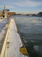 Hafen-Kai im Winter
