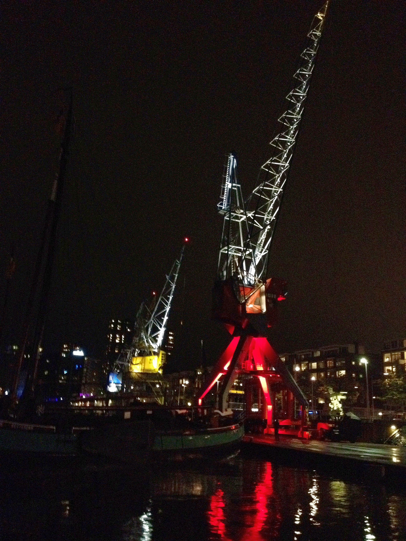 Hafen Rotterdam by night