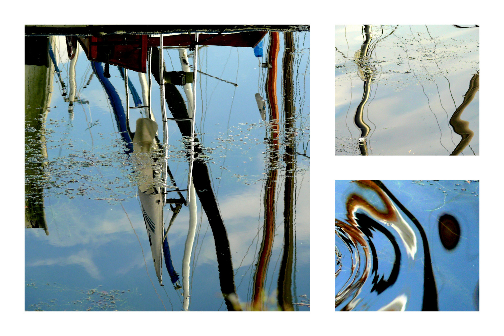 Hafen Spiegelungen