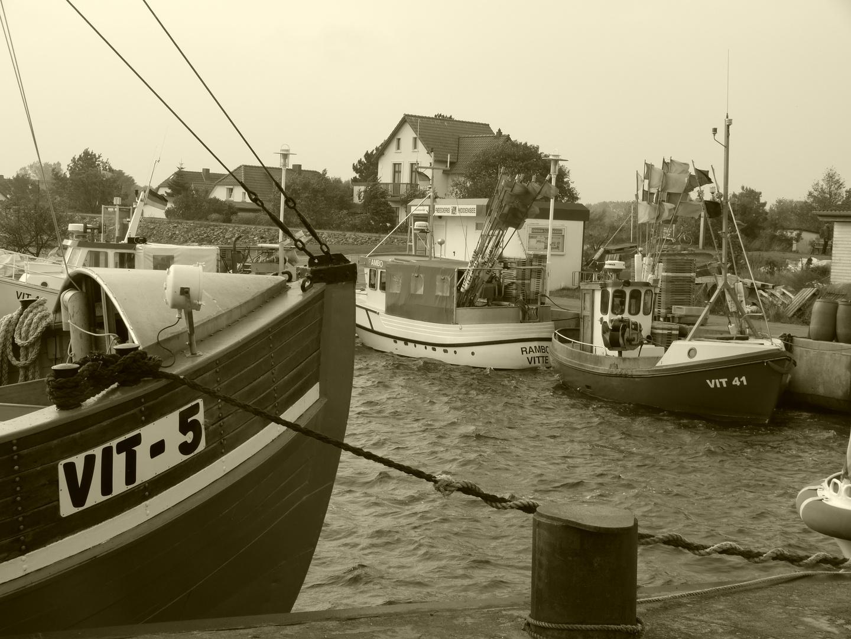 Hafen Vitte auf Hiddensee