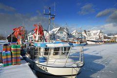 Hafen Vitte im Winter