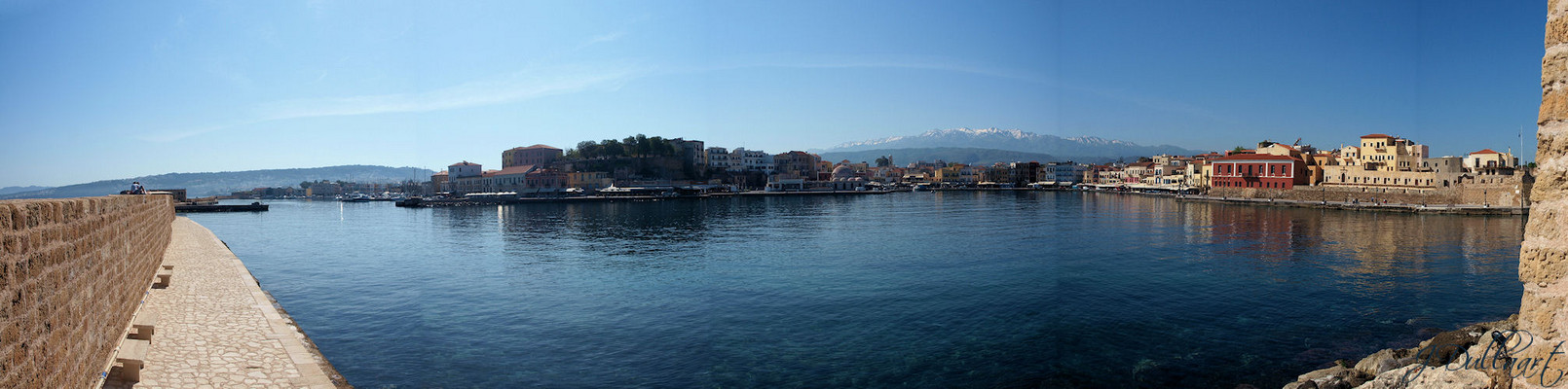 Hafen von Chania Panorama (Kreta)