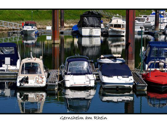 Hafen von Gernsheim am Rhein