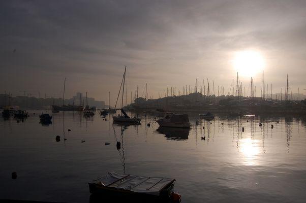 Hafen von Gzira/Sliema im Sonnenaufgang II