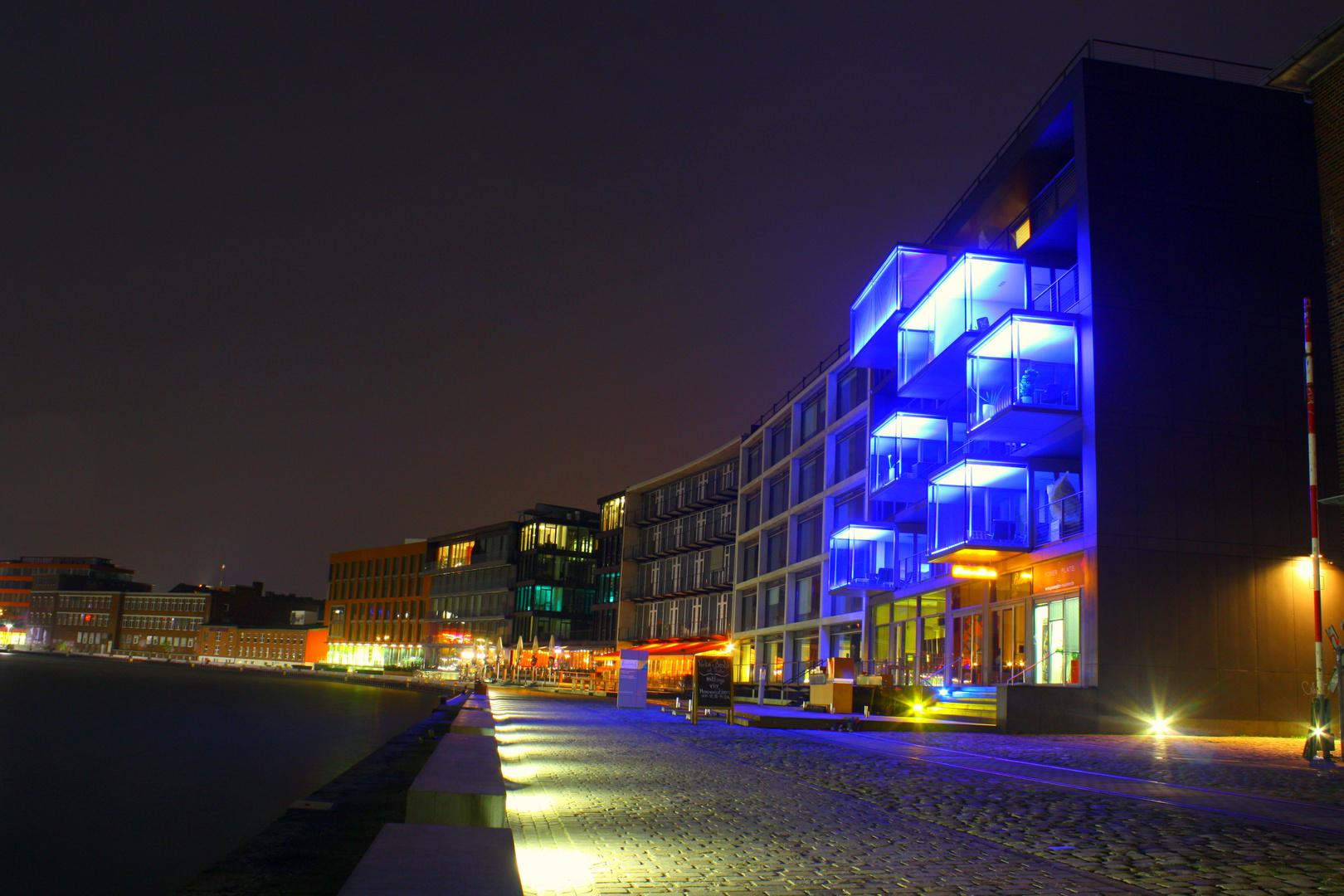 Hafen von Münster bei Nacht
