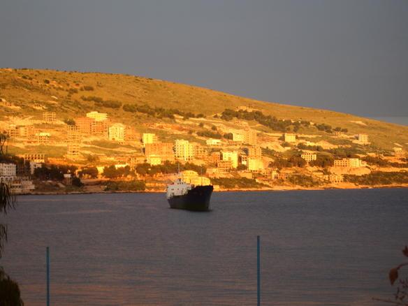 Hafen von Saranda Albanien
