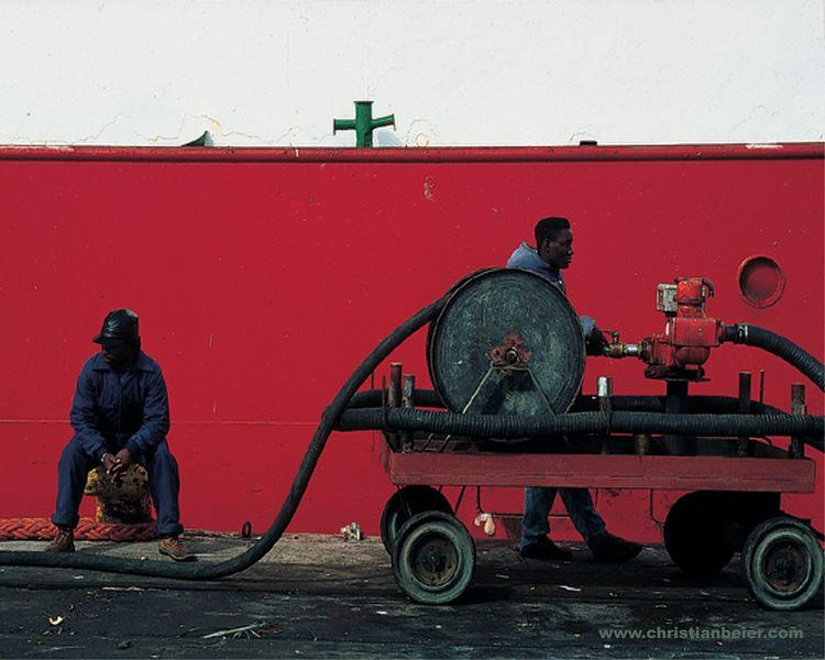 Hafenarbeiter in Lüderitz (Namibia)