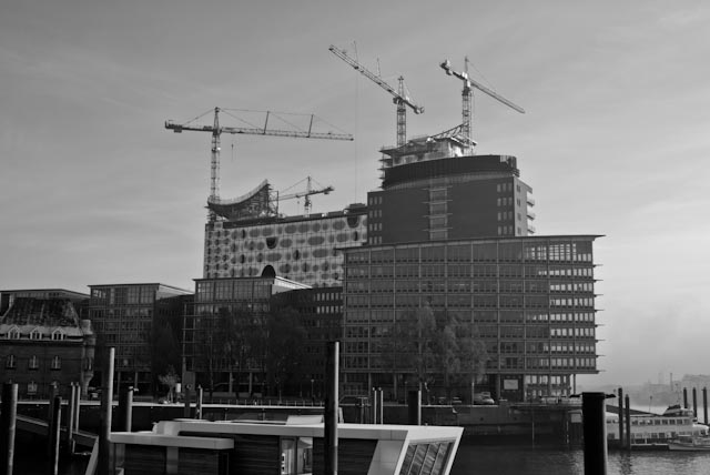 hafencity in black and white 2