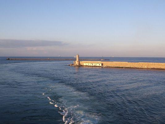 Hafeneinfahrt Livorno