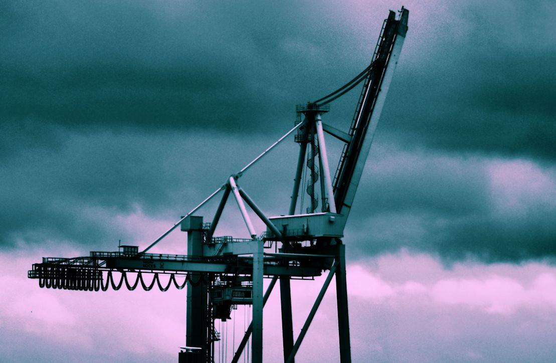 Hafenkran im Hamburger Hafen 2