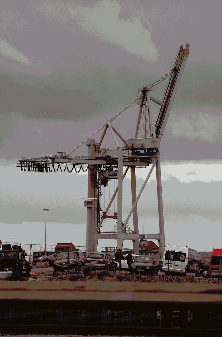 Hafenkran im Hamburger Hafen