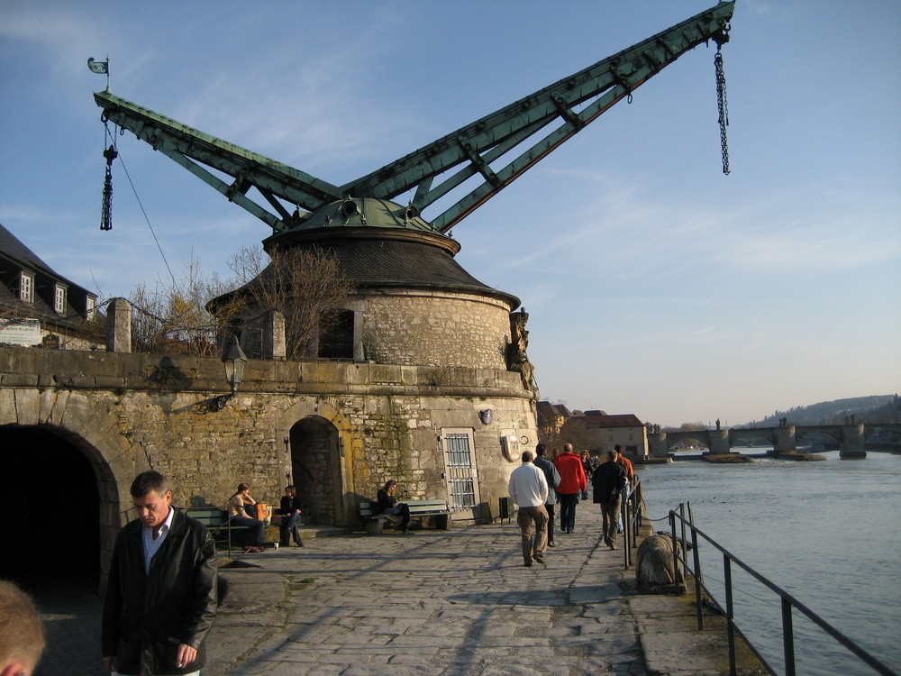 Hafenkran in Wüzburg