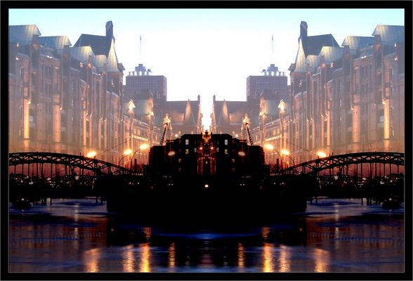 Hafenrandspiegelung