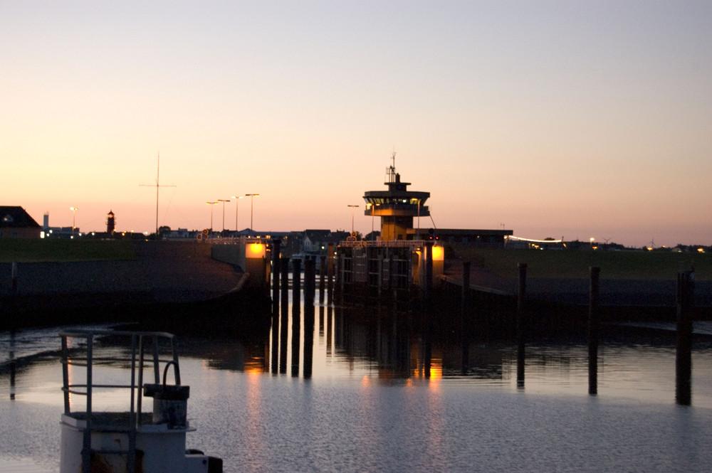Hafenschleuse in Büsum