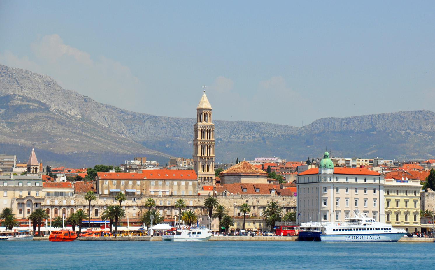 Hafensicht auf Split