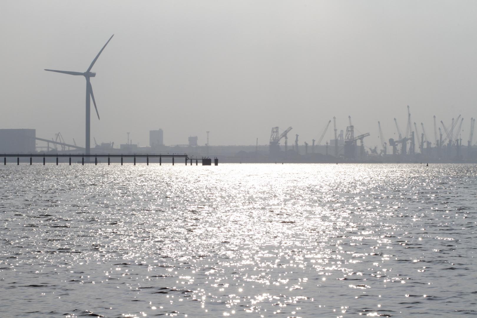 Hafensilhouette