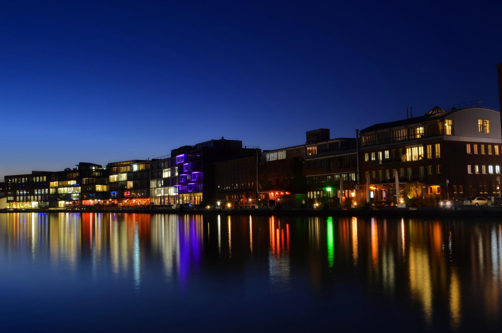 Hafenskyline Münster zur blauen Stunde