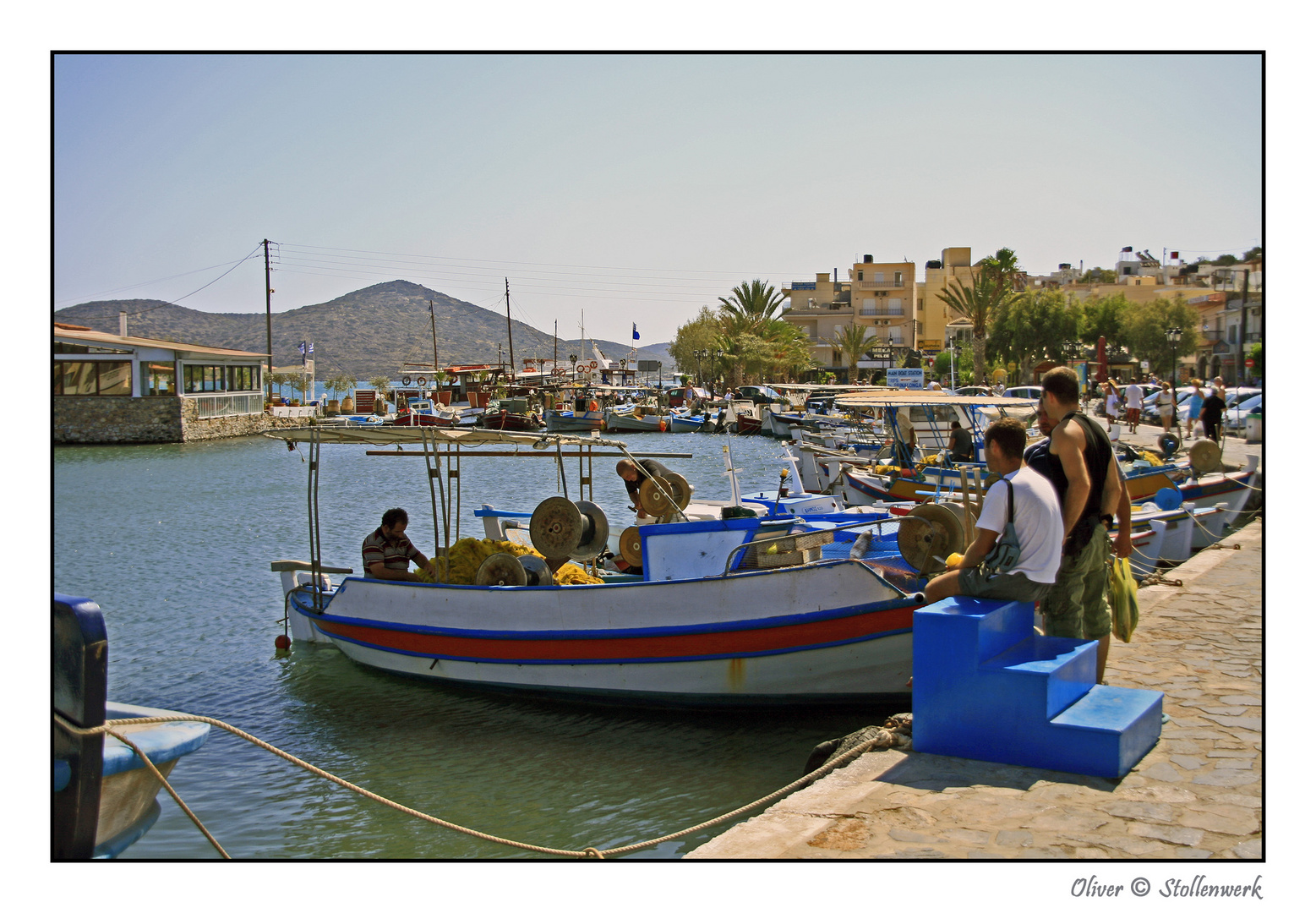 Hafenszene auf Kreta