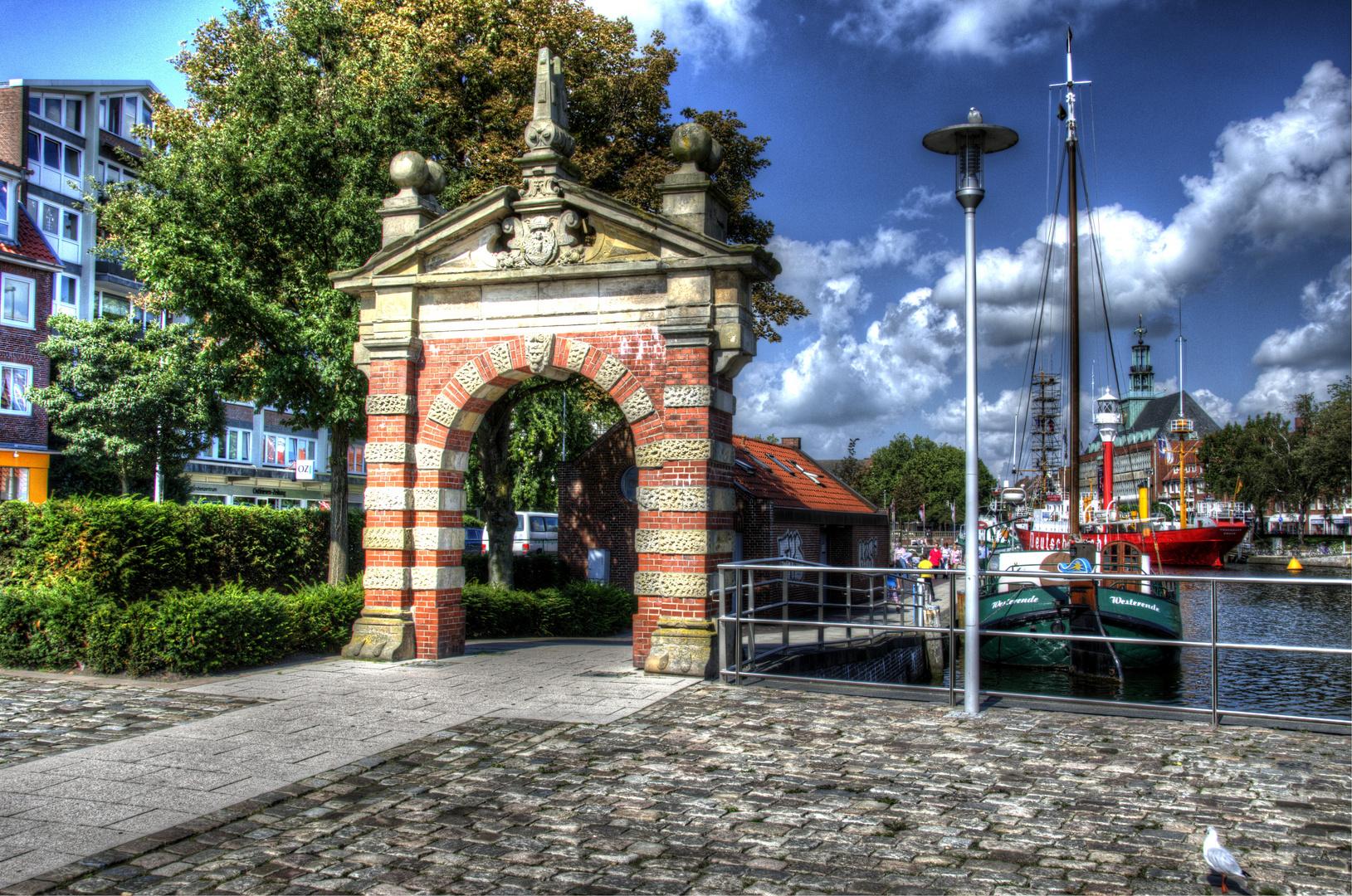 Hafentor Emden in HDR