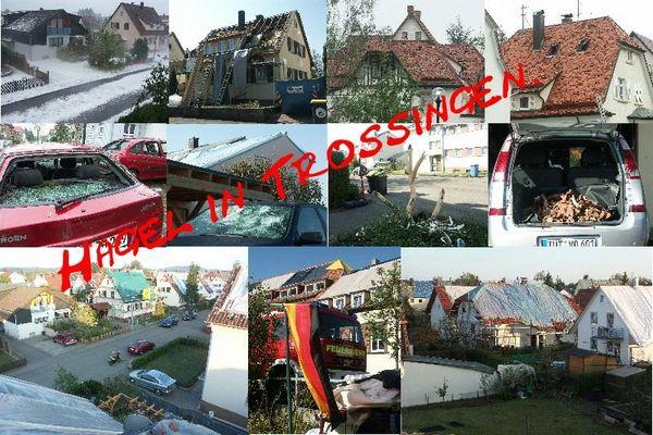 Hagel in Trossingen