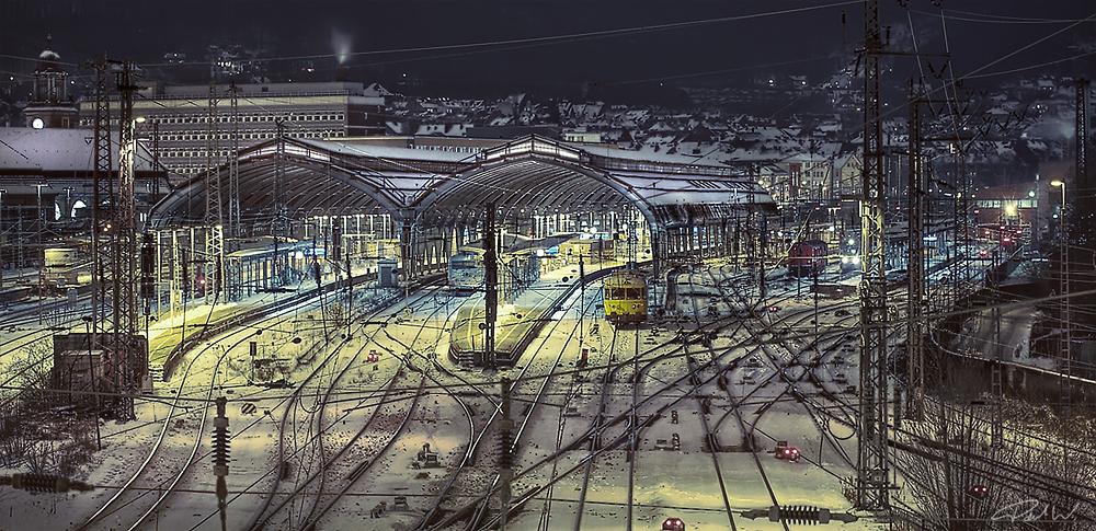 Hagen - Hauptbahnhof @ winter night