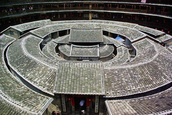 Hakkas Rundhäuser in China's Provinz Fujian