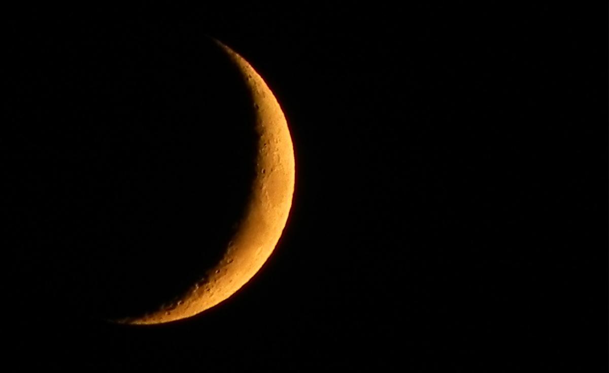 Halbmond in der Nacht