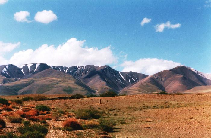 Halbwüste vor dem Altaigebirge