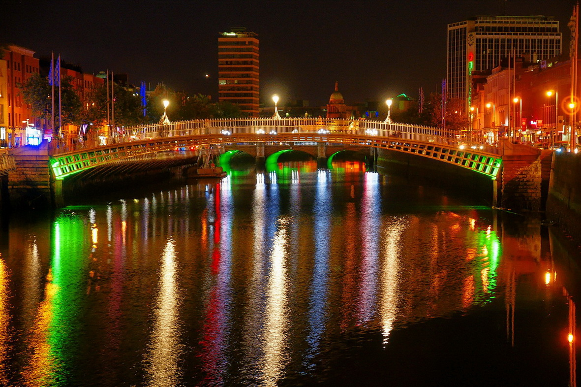 Half Penny Bridge in Dublin/Irland