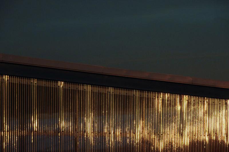 Halle im Abendlicht