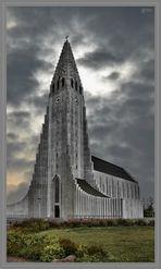 Hallgrímskirkja in Reykjavik (Island)