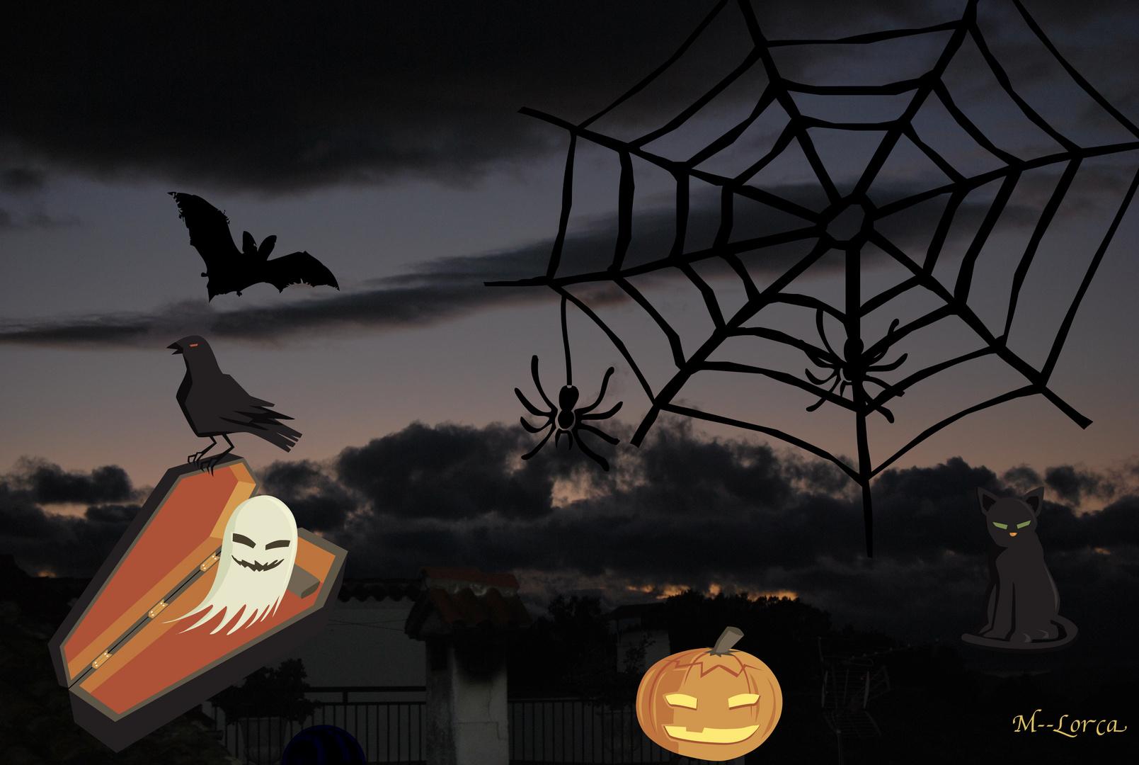 halowen foto hecha desde mi balcon