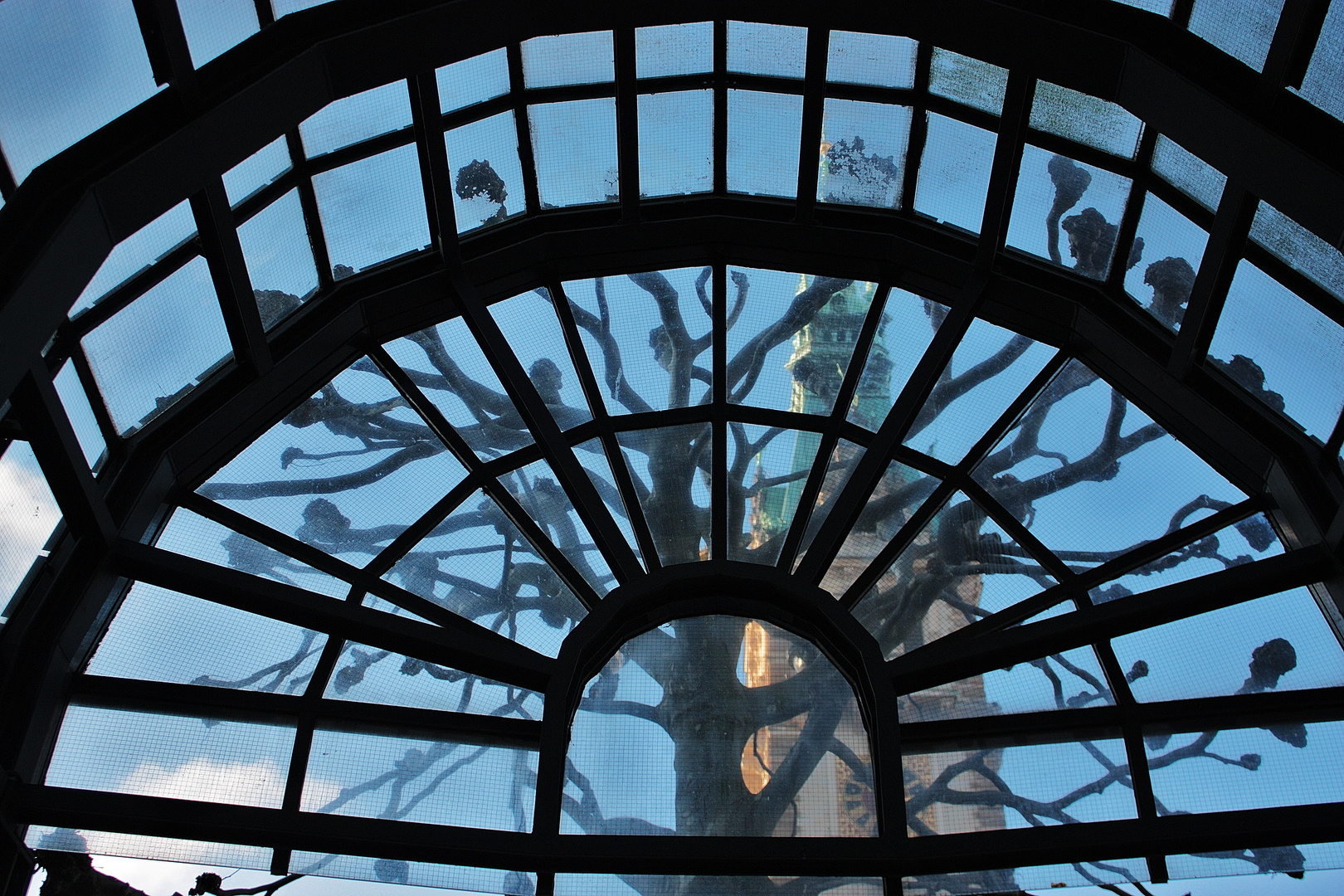 Haltestellenblick auf den Hamburger Rathausturm