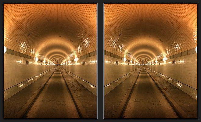 Hamburg - Alter Elbtunnel [3D]
